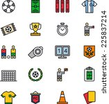 soccer football icons  | Shutterstock .eps vector #225837214
