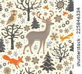 winter forest background.... | Shutterstock .eps vector #225846334