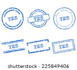 yes stamps | Shutterstock .eps vector #225849406