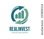 real invest   vector logo... | Shutterstock .eps vector #225850114