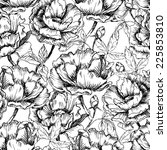 seamless hand drawn pattern of... | Shutterstock .eps vector #225853810