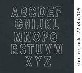 simple handwritten alphabet on... | Shutterstock .eps vector #225855109