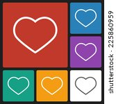 heart icon   Shutterstock .eps vector #225860959