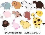 cute animal | Shutterstock .eps vector #225863470