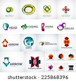 abstract company logo vector... | Shutterstock .eps vector #225868396