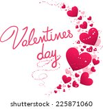 valentine s heart wave with... | Shutterstock .eps vector #225871060