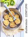 Fried Green Tomatoes On Frying...