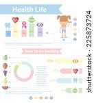 health and wellness template... | Shutterstock .eps vector #225873724