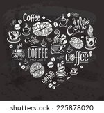 coffee labels. design elements... | Shutterstock .eps vector #225878020