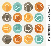 flat icons of arrows. vector...