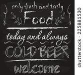 design for cafe   chalk on a...   Shutterstock .eps vector #225881530