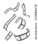 film strip roll design elements ... | Shutterstock .eps vector #225886678