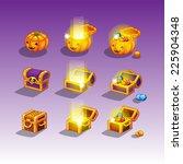 chest set for game interface | Shutterstock .eps vector #225904348