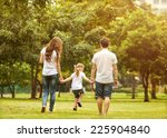 family walk in the park  happy... | Shutterstock . vector #225904840