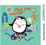 cute penguin | Shutterstock .eps vector #225905173