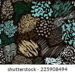 pattern consisting of hand... | Shutterstock .eps vector #225908494