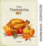 thanksgiving day. greeting card ... | Shutterstock .eps vector #225910150