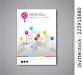 modern vector abstract brochure ...   Shutterstock .eps vector #225915880