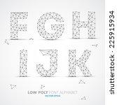 wire vector low poly alphabet... | Shutterstock .eps vector #225915934