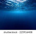 underwater shot of sea surface... | Shutterstock . vector #225916408