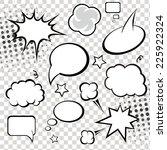 Постер, плакат: Comic speech bubbles and
