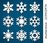 snowflakes icons set for...