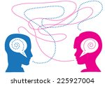 lack of communication between... | Shutterstock .eps vector #225927004