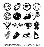 vector black flat vector set of ... | Shutterstock .eps vector #225927160