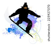 collection of snowboard  skiers | Shutterstock .eps vector #225927370