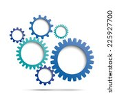 abstract gear background | Shutterstock .eps vector #225927700