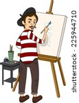 illustration featuring a french ... | Shutterstock .eps vector #225944710