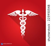 medical vector icon  caduceus... | Shutterstock .eps vector #225950548