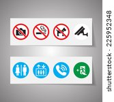 public signs vector set | Shutterstock .eps vector #225952348