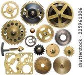 clockwork spare parts. metal...   Shutterstock . vector #225961306