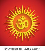 spiritual om design with... | Shutterstock .eps vector #225962044