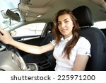 girl in the car | Shutterstock . vector #225971200