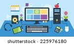 objects composition table | Shutterstock .eps vector #225976180