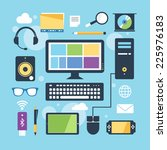 computer signs devices objects   Shutterstock .eps vector #225976183