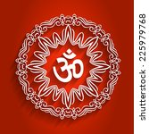 decorative om design with... | Shutterstock .eps vector #225979768