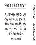 blackletter gothic script hand... | Shutterstock .eps vector #225983539