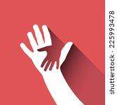 vector sign children hand  | Shutterstock .eps vector #225993478