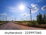 wind turbine power generator  ... | Shutterstock . vector #225997360