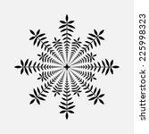 laurel wreath tattoo. snowflake ... | Shutterstock .eps vector #225998323