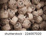 Wicker Basket In Marketplace...