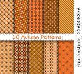 set of ten autumn vector... | Shutterstock .eps vector #226008376