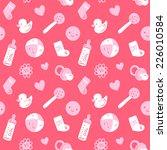 vector seamless baby pattern   Shutterstock .eps vector #226010584