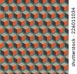 a seamless cube pattern vector... | Shutterstock .eps vector #226011034