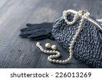 old elegant vintage handbag... | Shutterstock . vector #226013269