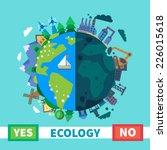 ecology. environmental...   Shutterstock .eps vector #226015618