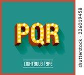 lightbulb typeface vector...   Shutterstock .eps vector #226019458